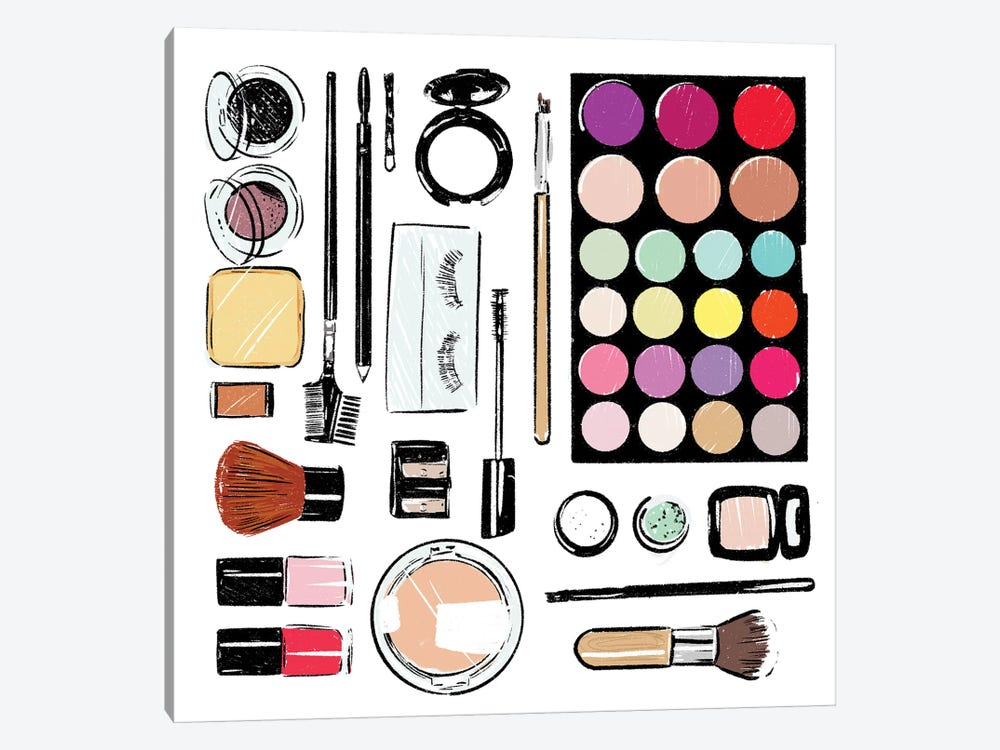 More And More Make Up Tools by Mlli Villa 1-piece Canvas Artwork