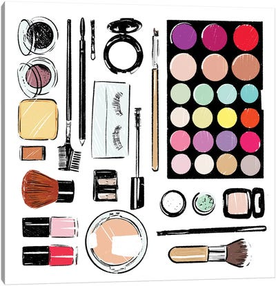 More And More Make Up Tools Canvas Art Print