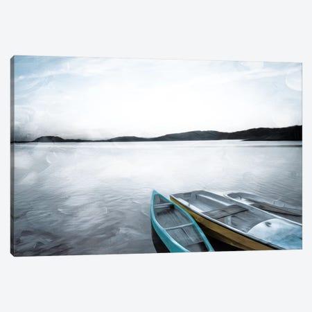 Three Boats Canvas Print #MVI5} by Mlli Villa Canvas Art