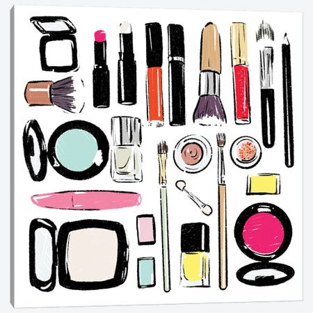 Some More Make Up Tools Canvas Print #MVI62} by Mlli Villa Canvas Wall Art