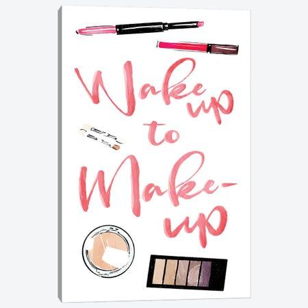 Wake Up To Make Up Canvas Print #MVI66} by Mlli Villa Canvas Art Print