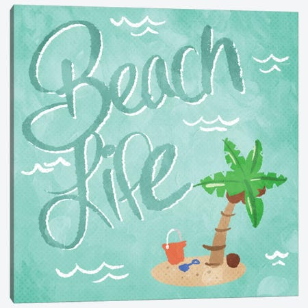 Beach Life Canvas Print #MVI67} by Mlli Villa Canvas Print