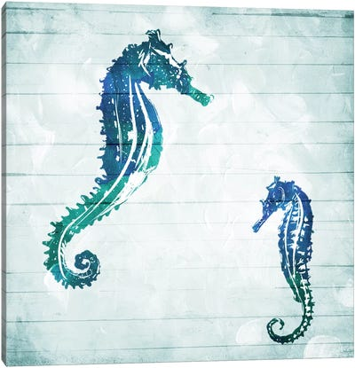 Horses In The Sea Canvas Art Print
