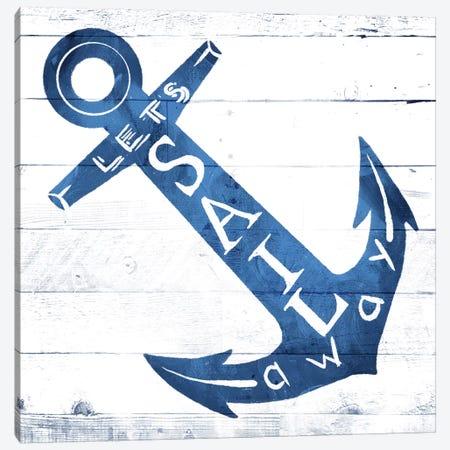 Let Sail Away Canvas Print #MVI69} by Mlli Villa Canvas Art