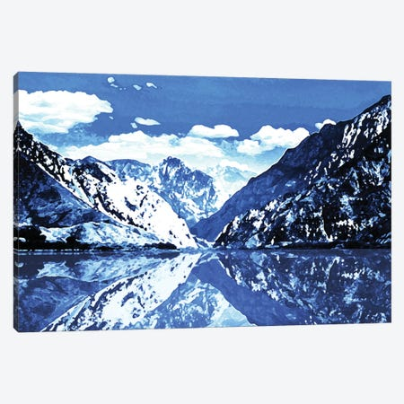 Blue Mountain Canvas Print #MVI6} by Mlli Villa Canvas Artwork