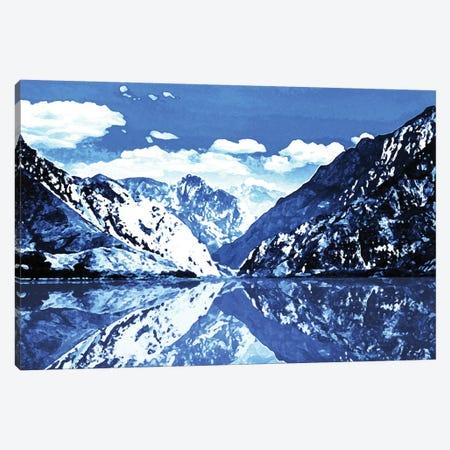 Blue Mountain Canvas Print #MVI6} by Mlli Villa Canvas Artwork