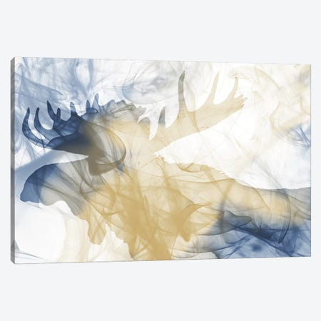 Moose Smoke Mate Canvas Print #MVI86} by Mlli Villa Art Print