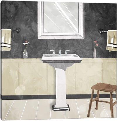 Sink Florals Dark Canvas Art Print