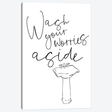 Wash Your Worries Canvas Print #MVI97} by Mlli Villa Canvas Artwork