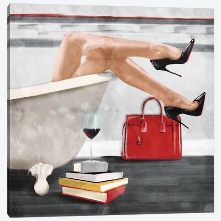 Wine And Bath Canvas Print #MVI98} by Mlli Villa Canvas Print