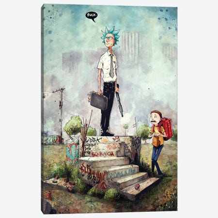 Rick Sanches in Falling Down Canvas Print #MVN10} by Marcelo Ventura Canvas Artwork
