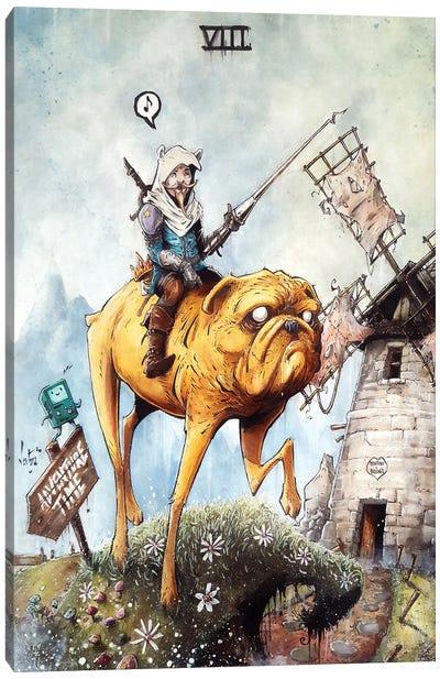 Don Finnote De La Mancha Canvas Art Print