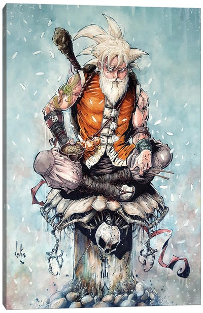 Master Goku Canvas Art Print