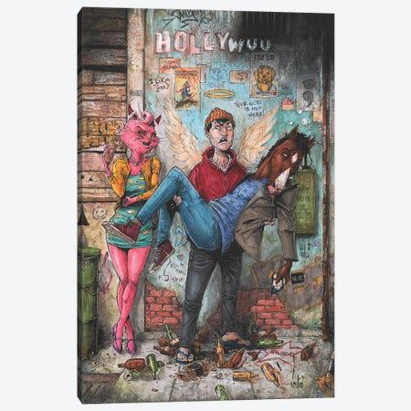 Bojack Horseman Canvas Print #MVN16} by Marcelo Ventura Canvas Art Print