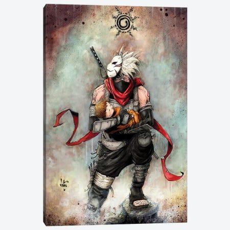 Kakashi Naruto Canvas Print #MVN17} by Marcelo Ventura Art Print