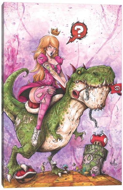 Princess Peach Canvas Art Print