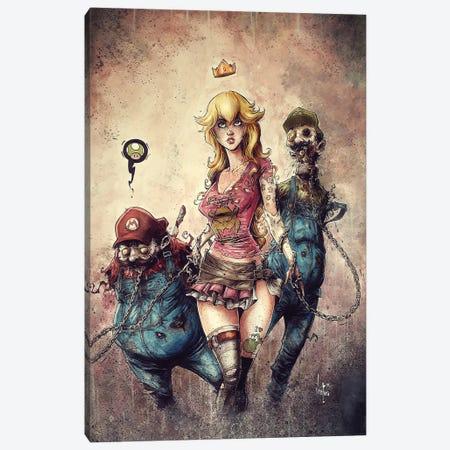 Princess Peach The Walking Dead Canvas Print #MVN1} by Marcelo Ventura Canvas Artwork