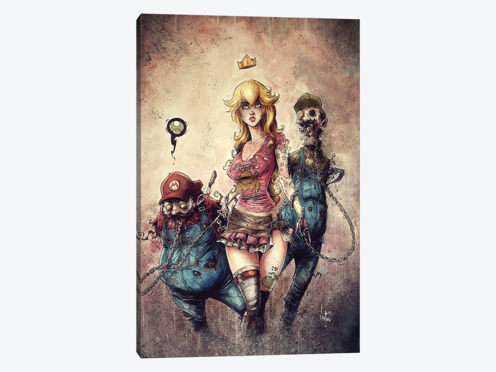 Princess Peach The Walking Dead by Marcelo Ventura 1-piece Canvas Artwork