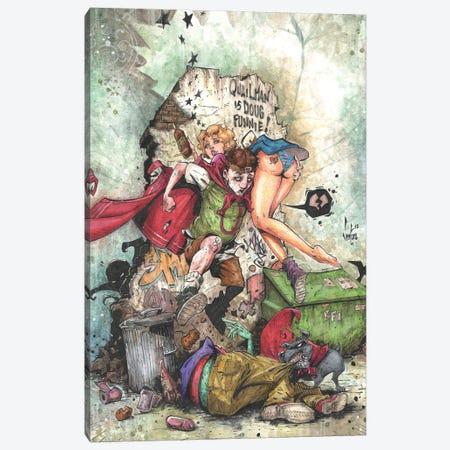 Quailman is Doug Funnie! Canvas Print #MVN20} by Marcelo Ventura Canvas Art Print