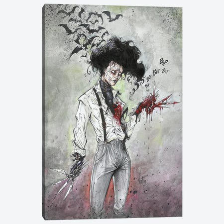Edward Scissorhands Canvas Print #MVN21} by Marcelo Ventura Canvas Art Print