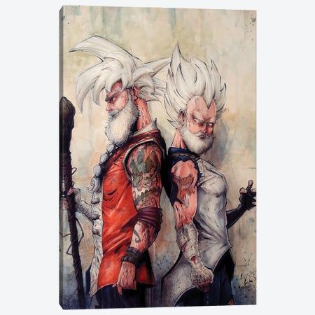 Master Goku and Vegeta Canvas Print #MVN25} by Marcelo Ventura Canvas Art