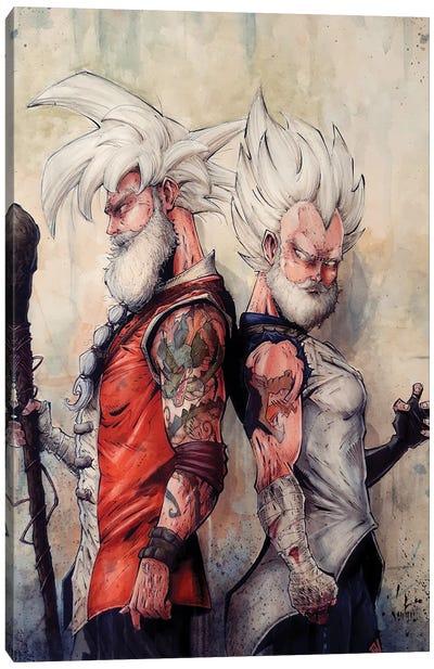 Master Goku and Vegeta Canvas Art Print