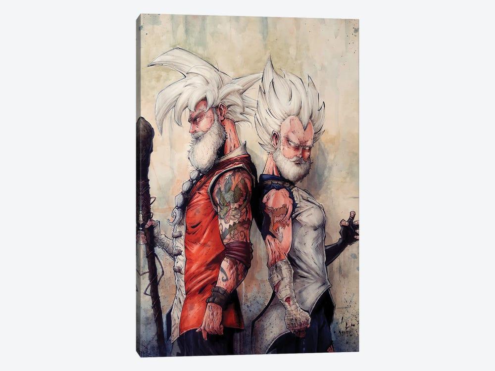 Master Goku and Vegeta by Marcelo Ventura 1-piece Canvas Print