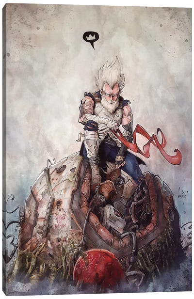 Old Vegeta Canvas Art Print