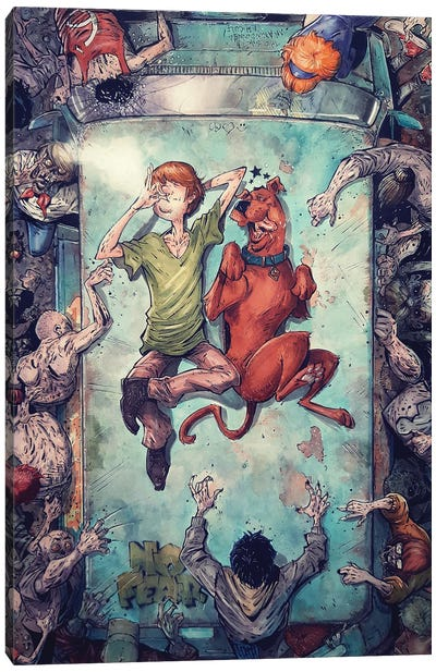 Shaggy and Scooby Good Vibes Canvas Art Print