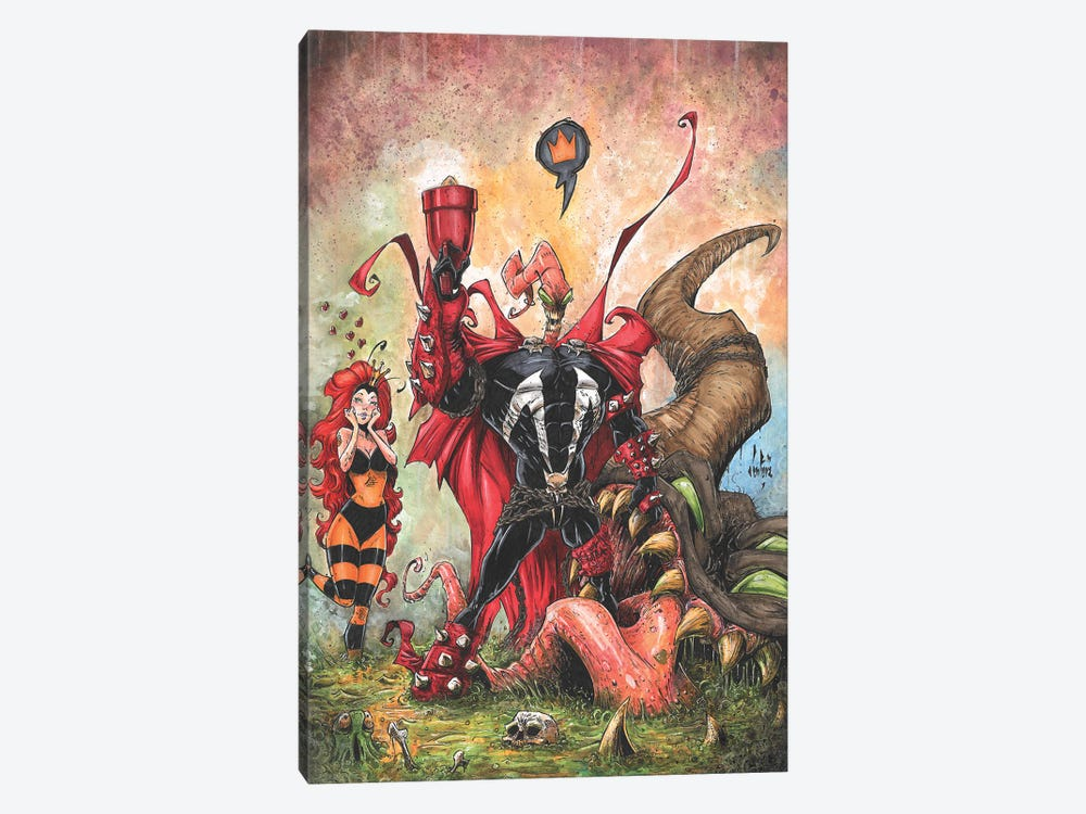 Earth Worm Spawn by Marcelo Ventura 1-piece Canvas Art