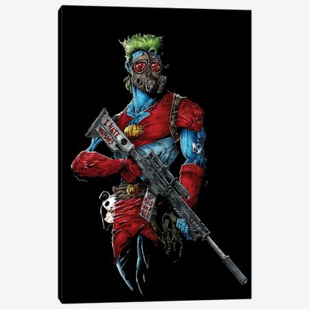 Capitain Planet Ecoterrorist Canvas Print #MVN29} by Marcelo Ventura Canvas Print