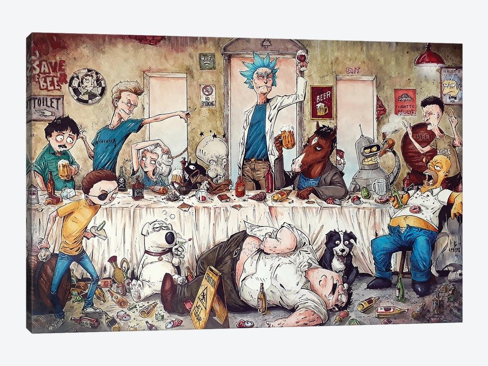 Last Supper by Marcelo Ventura 1-piece Canvas Art Print