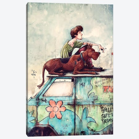 Shaggy Super Tramp Canvas Print #MVN3} by Marcelo Ventura Canvas Wall Art