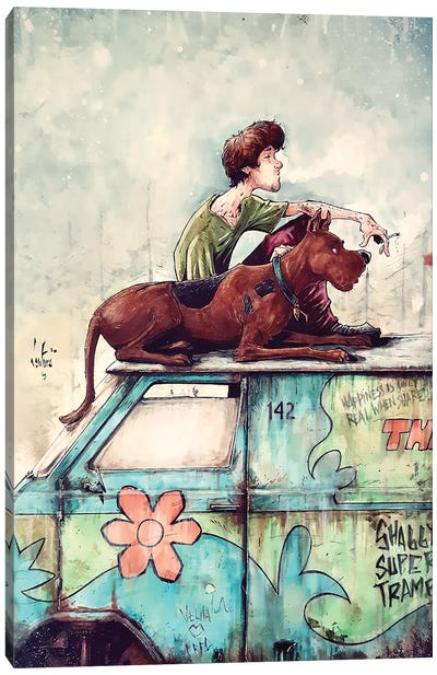 Shaggy Super Tramp Canvas Art Print
