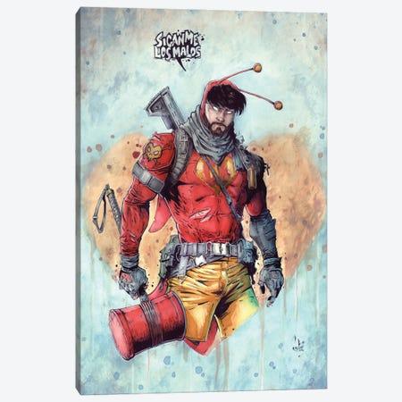 El Chapulin Colorado Canvas Print #MVN44} by Marcelo Ventura Canvas Wall Art