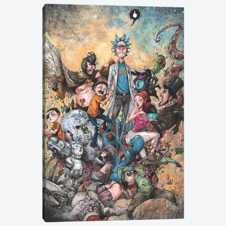 Rick And Morty Epic Canvas Print #MVN4} by Marcelo Ventura Canvas Art Print