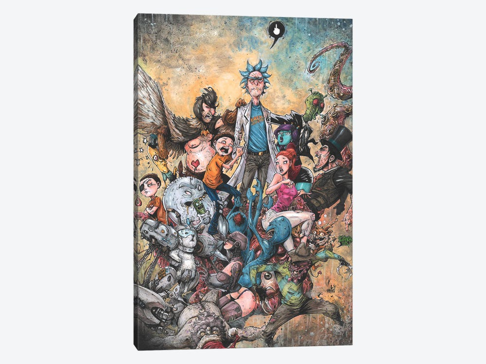 Rick And Morty Epic by Marcelo Ventura 1-piece Art Print