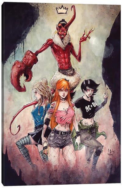 Himboy And The Powerpuff Girls Canvas Art Print
