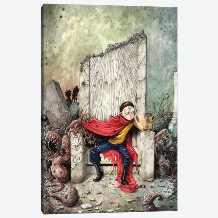 Akira Morty Rises Canvas Print #MVN7} by Marcelo Ventura Art Print