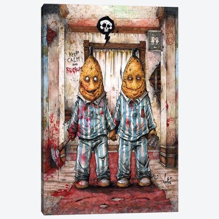 Bananas In pajamas Canvas Print #MVN8} by Marcelo Ventura Canvas Wall Art