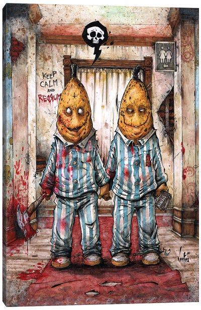 Bananas In pajamas Canvas Art Print