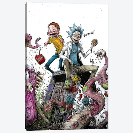 Rick And Morty Canvas Print #MVN9} by Marcelo Ventura Canvas Art