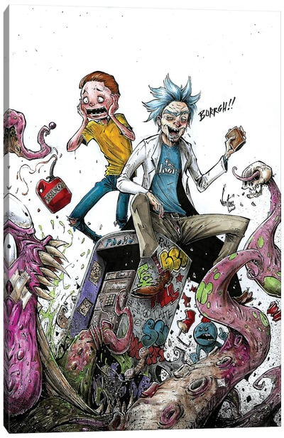 Rick And Morty Canvas Art Print