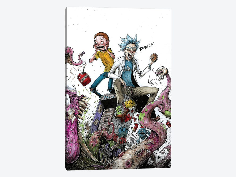 Rick And Morty by Marcelo Ventura 1-piece Canvas Wall Art