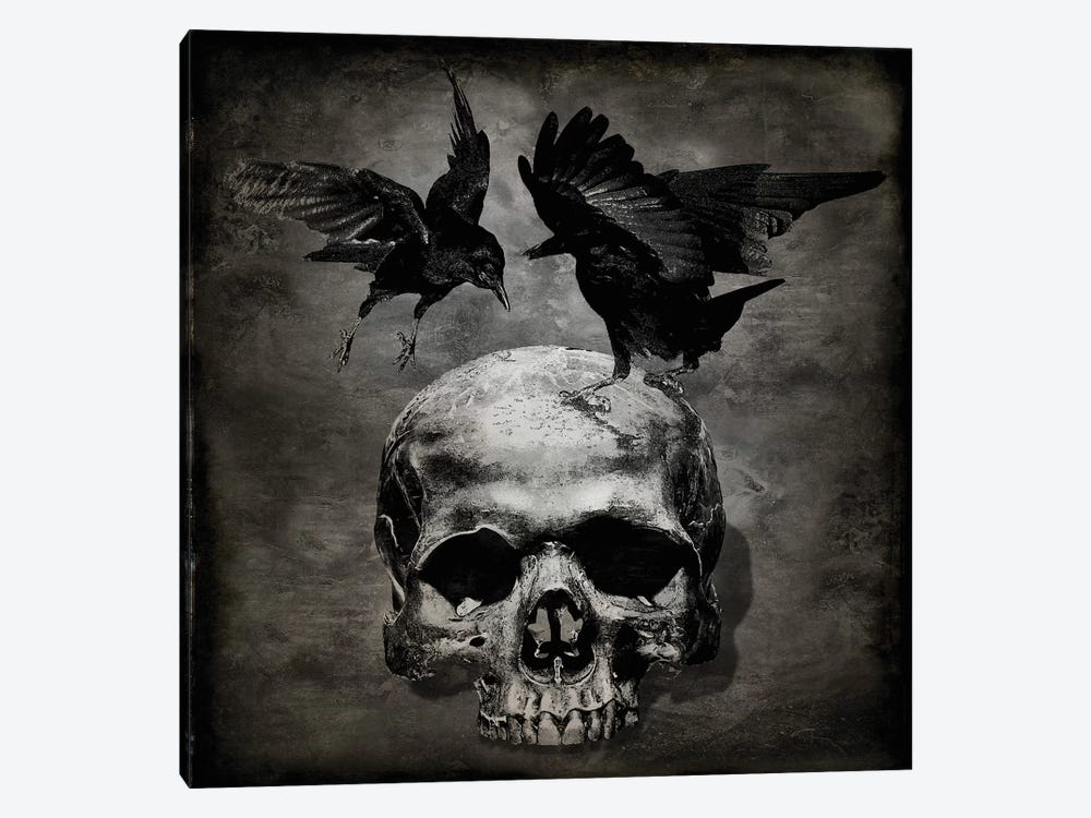 Skull With Crows by Martin Wagner 1-piece Canvas Art Print