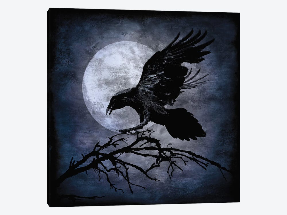 Crow by Martin Wagner 1-piece Canvas Artwork