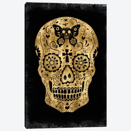 Day Of The Dead In Gold & Black Canvas Print #MWA4} by Martin Wagner Canvas Art Print