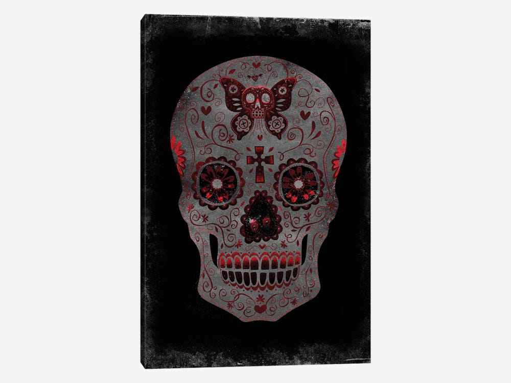 Day Of The Dead In Red by Martin Wagner 1-piece Canvas Art