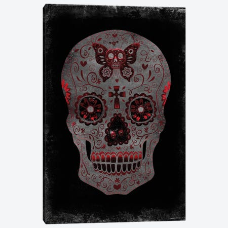 Day Of The Dead In Red Canvas Print #MWA5} by Martin Wagner Art Print