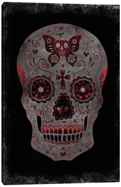 Day Of The Dead In Red Canvas Art Print